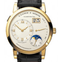 A.Lange and Söhne watches Lange 1 Moonphase (18kt YG / Silver / Leather)