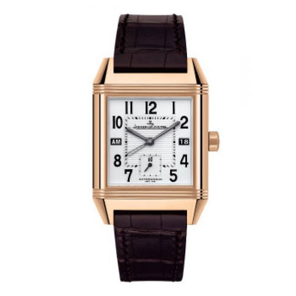 Jaeger LeCoultre watches Jaeger LeCoultre  Reverso Squadra Hometime (PG / Silver / Leather)