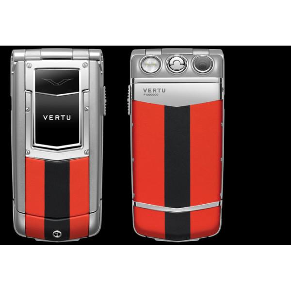 Vertu Constellation Ayxta Steel Aluminium Sapphire Red and Black