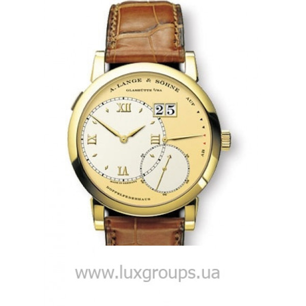 A.Lange and Söhne watches Grand Lange 1 (18kt YG / Silver / Leather)