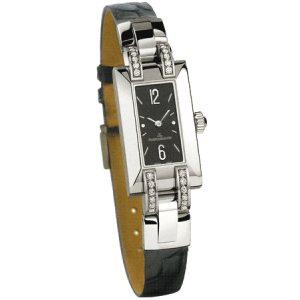 Jaeger LeCoultre watches Jaeger LeCoultre  Ideale (Steel / Grey / Diamonds / Leather)