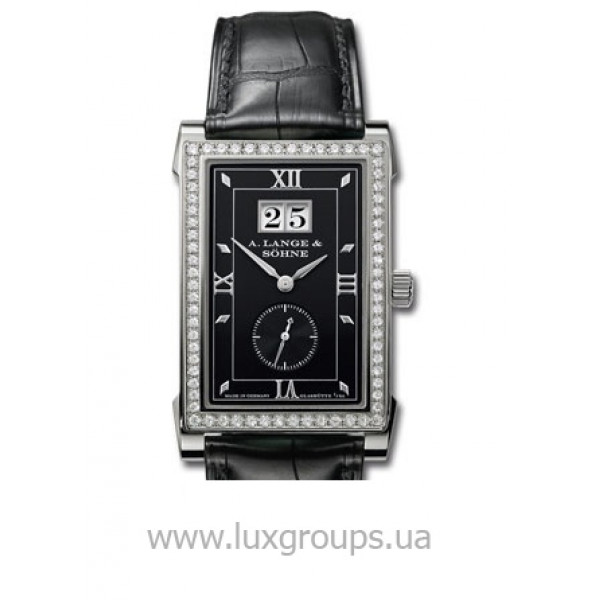 A.Lange and Söhne watches Cabaret (WG-Diamonds / Black / Leather)