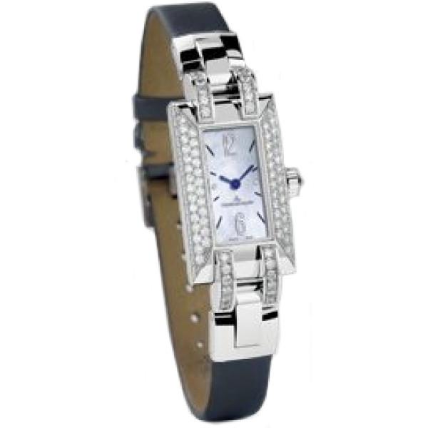 Jaeger LeCoultre watches Jaeger LeCoultre Ideale (WG / MOP / Diamonds / Leather)