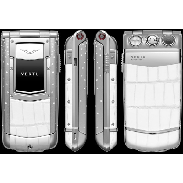 Vertu Constellation Ayxta Steel Diamond Ceramic White Alligator