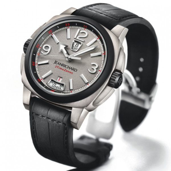 JeanRichard watches 2 Timezones Zirconium Limited