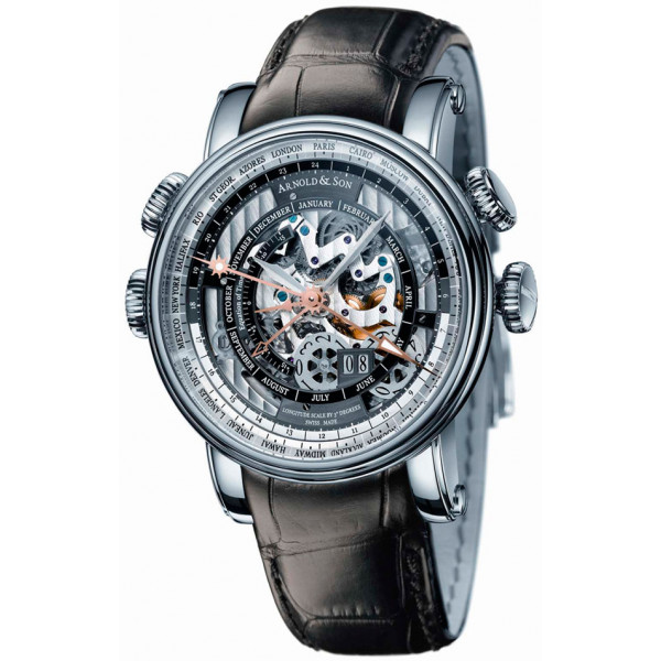 Arnold & Son watches Hornet World Timer Skeleton Limited Edition 50