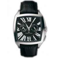 Maurice Lacroix watches Miros Coussin Reveil (SS / Black / Leather)