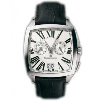 Maurice Lacroix watches Miros Coussin Reveil (SS / Silver / Black Leather)