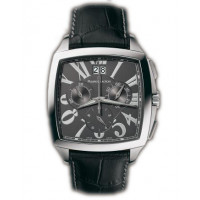 Maurice Lacroix watches Miros Coussin Chronographe (SS / Grey / Leather)