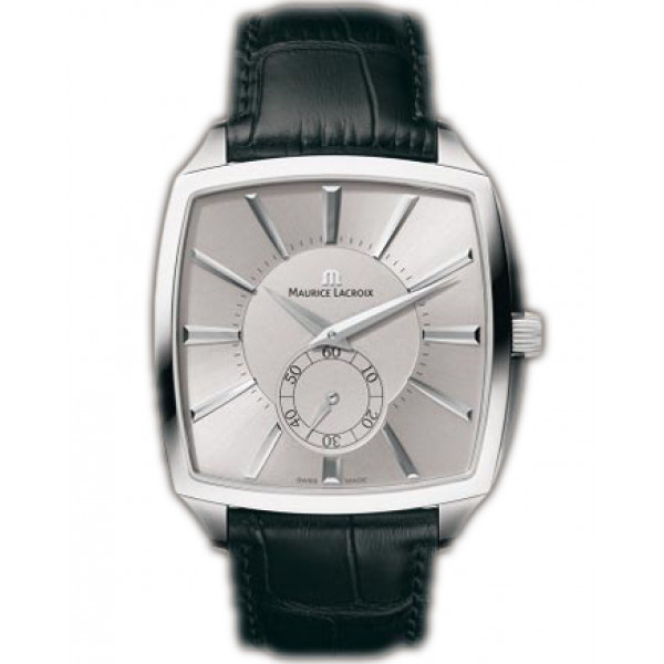 Maurice Lacroix watches Miros Coussin Mcanique (SS / Silver / Leather)
