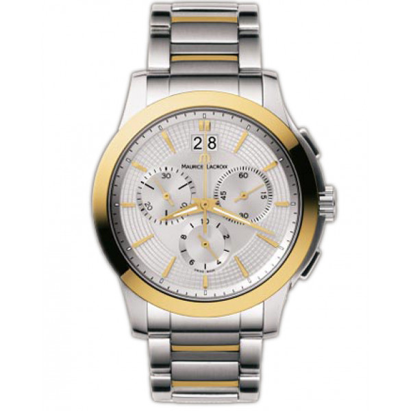 Maurice Lacroix watches Miros Chronographe (SS_YG / Silver / SS_YG)