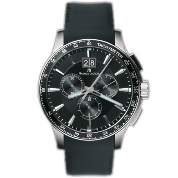 Maurice Lacroix watches Miros Sport (SS / Black / Rubber)