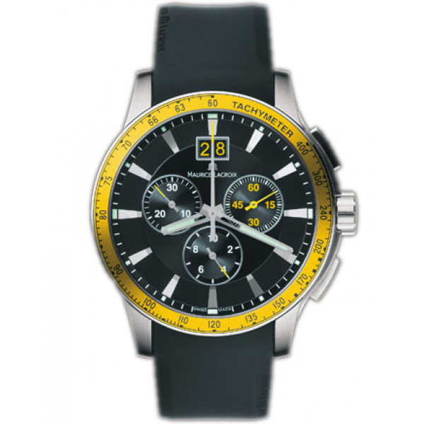 Maurice Lacroix watches Miros Sport (SS / Black_Yellow / Rubber)