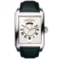 Maurice Lacroix watches Pontos Rectangulaire Day/Date (SS / Silver / Leather)