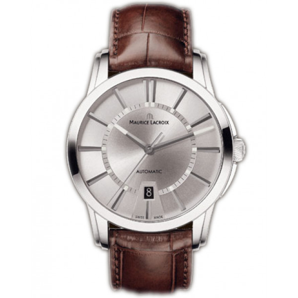 Maurice Lacroix watches Pontos Automatique Herren (SS / Silver / Leather)