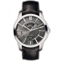 Maurice Lacroix watches Pontos Day/Date (SS / Grey / Leather)