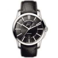 Maurice Lacroix watches Pontos Day/Date (SS / Black / Leather)