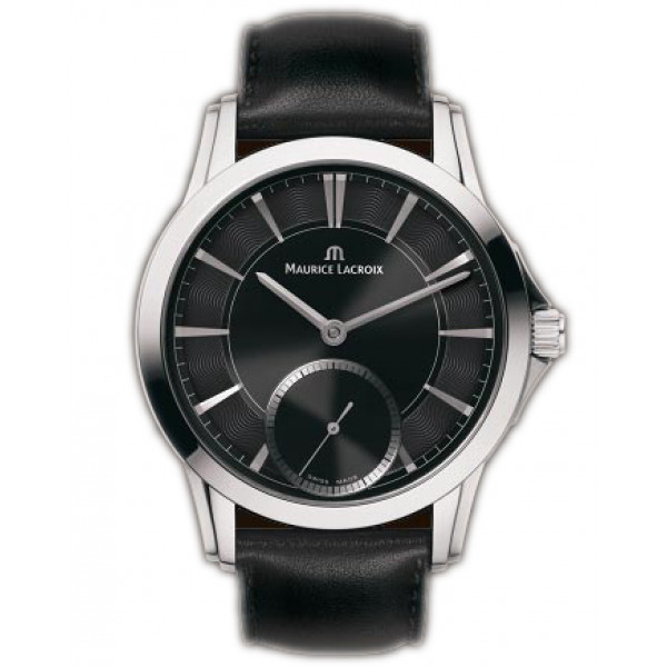 Maurice Lacroix watches Pontos Petite Seconde (SS / Black / Leather)