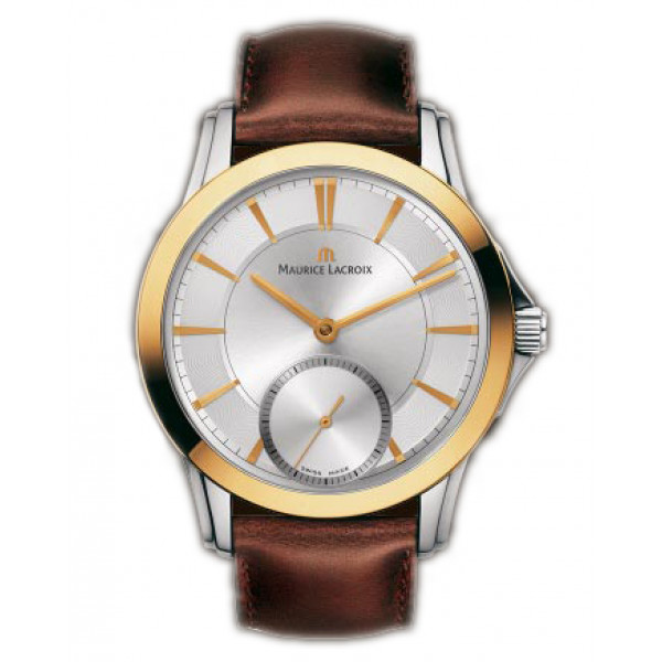 Maurice Lacroix watches Pontos Petite Seconde (RG_SS / Silver / Leather)