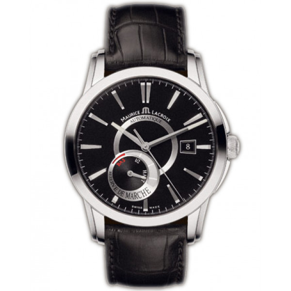 Maurice Lacroix watches Pontos R?serve de Marche (SS / Black / Leather)