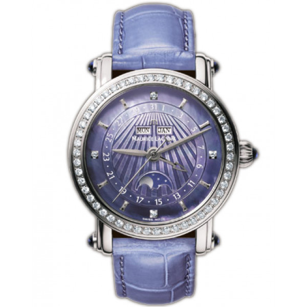 Maurice Lacroix watches Phase de Lune Dame (SS / Violet)