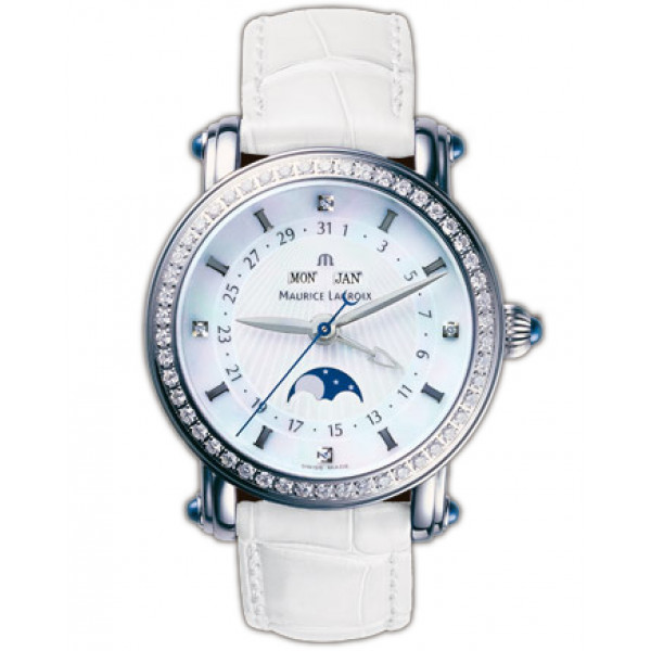 Maurice Lacroix watches Phase de Lune Dame (SS / White)