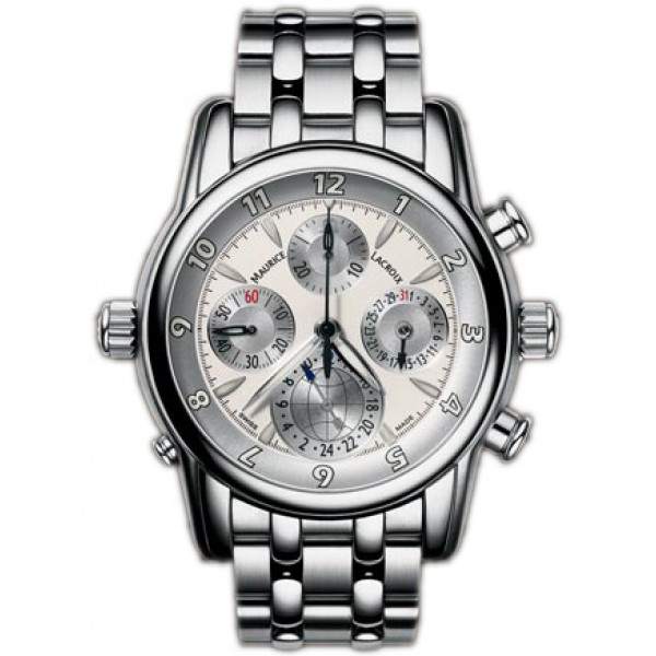 Maurice Lacroix watches Chrono Globe (SS / White / SS)