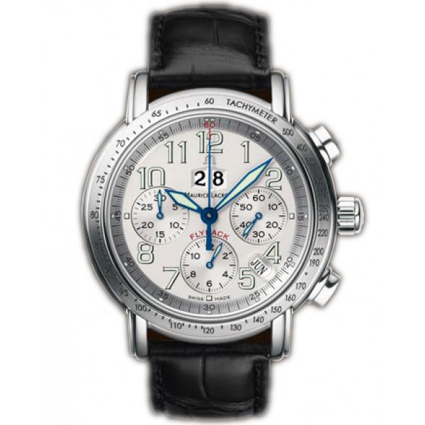 Maurice Lacroix watches Flyback Aviator (SS / White)