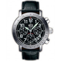 Maurice Lacroix watches Flyback Aviator (SS / Black)