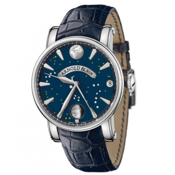 Arnold & Son watches True Moon stainless steel blue dial