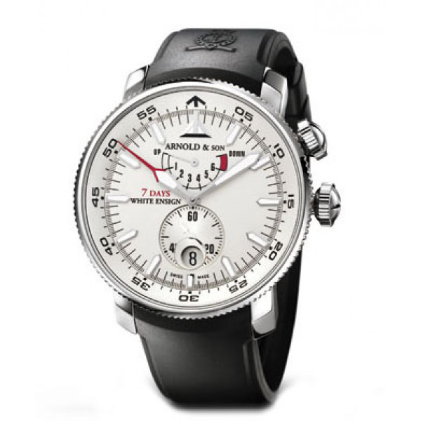 Arnold & Son watches White Ensign 7 Days (SS / Silver / Rubber)