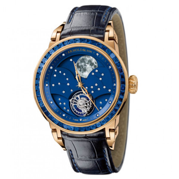 Arnold & Son watches GRAND MOON TOURBILLON -Blue Saphire  Limited Edition 30