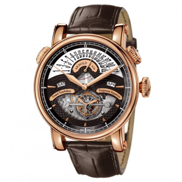 Arnold & Son watches Grand Tourbillon Perpetual or rose black dial Limited Edition 10