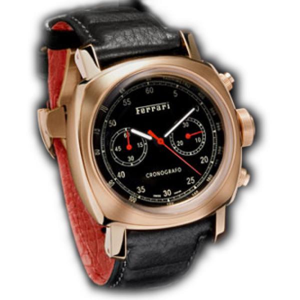 Officine Panerai watches Ferrari Chronograph Spesial Edition (RG / Black / Leather)