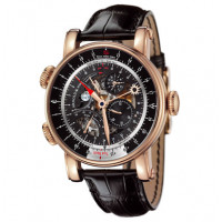 Arnold & Son watches True North Perpetual rose gold skeleton black dial