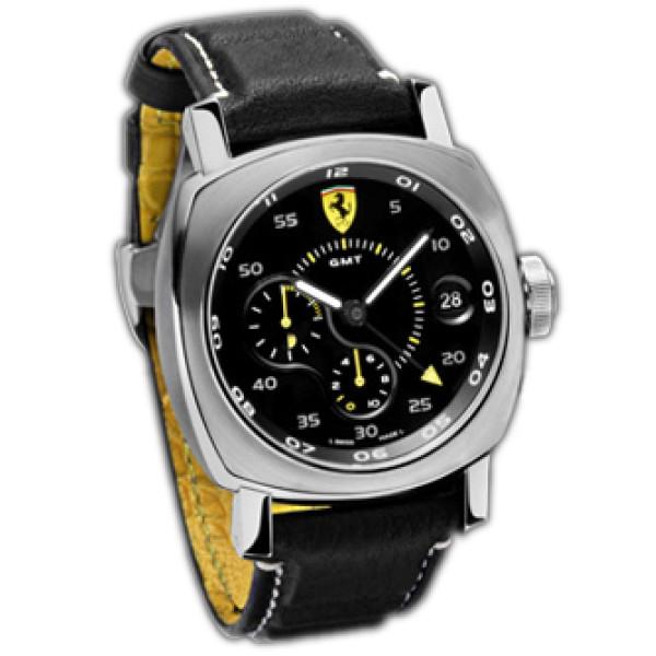 Officine Panerai watches Ferrari Scuderia 10 Days GMT (SS / Black / Leather)