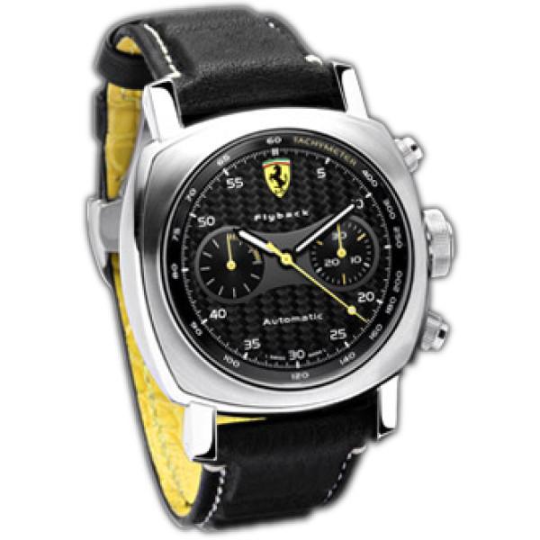 Officine Panerai watches Ferrari Scuderia Flyback (SS / Black / Leather)