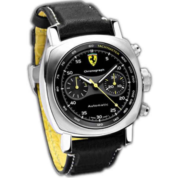 Officine Panerai watches Ferrari Scuderia Chronograph (SS / Black / Leather)