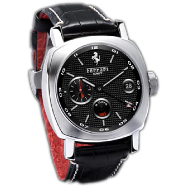 Officine Panerai watches Ferrari GT 8 Days GMT (SS / Black / Leather)