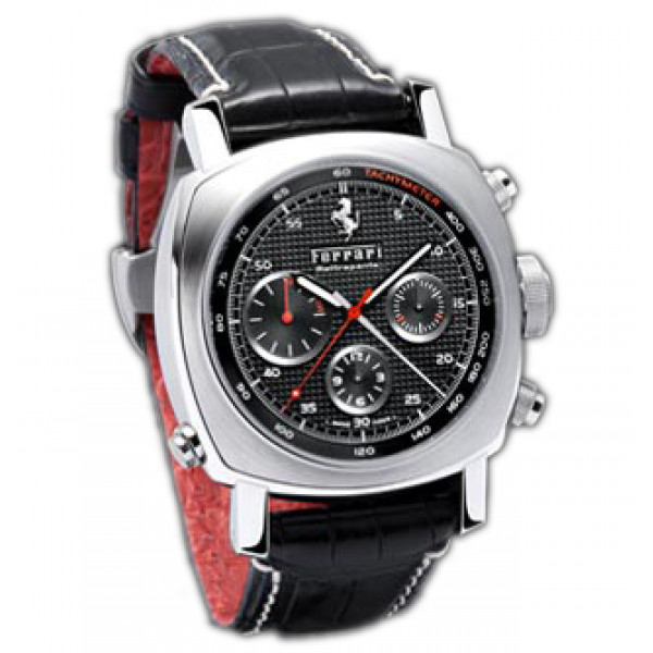 Officine Panerai watches Ferrari GT Rattrapante (SS / Black / Leather)