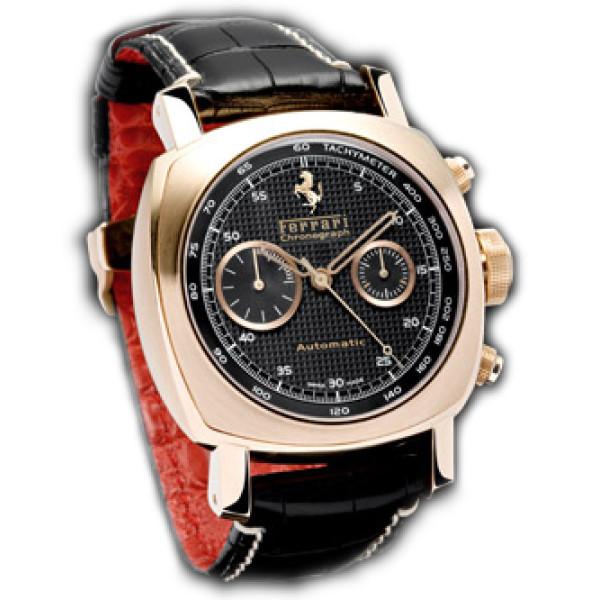Officine Panerai watches Ferrari GT Chronograph (RG / Black / Leather)
