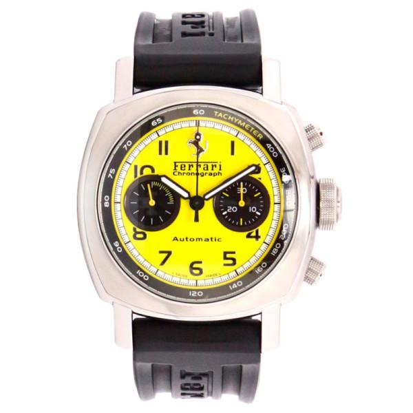 Officine Panerai watches Ferrari GT Chronograph (SS / Yellow / Leather)