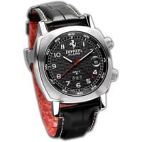 Officine Panerai watches Ferrari GT GMT/Alarm (SS / Black / Leather)