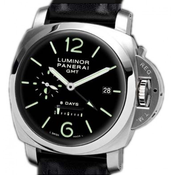 Officine Panerai watches Luminor 1950 8 Days GMT (SS / Black / Leather)