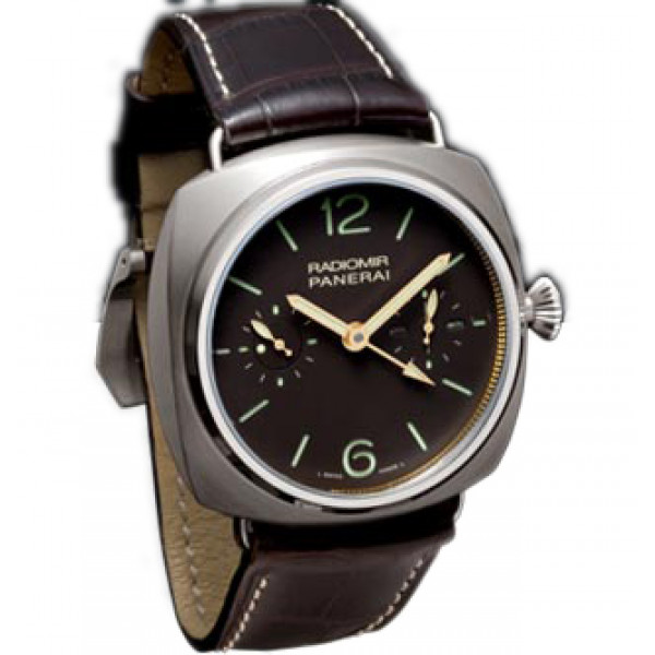 Officine Panerai watches Radomir Tourbillon GMT (Ti / Brown / Leather)
