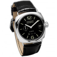 Officine Panerai watches Radomir 8 Days (SS / Black / Leather)