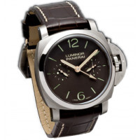 Officine Panerai watches Luminor 1950 Tourbillon GMT (Ti / Brown / Leather)