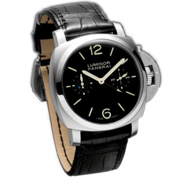 Officine Panerai watches Luminor 1950 Tourbillon GMT (SS / Black / Leather)