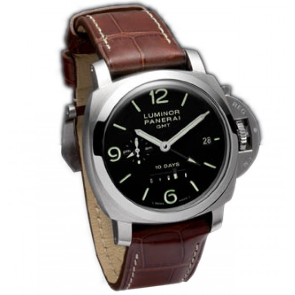 Officine Panerai watches Luminor 1950 10 Days GMT (SS / Black / Leather)