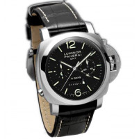 Officine Panerai watches Luminor 1950 8 Days Chrono Monopulsante GMT (SS / Black / Leather)